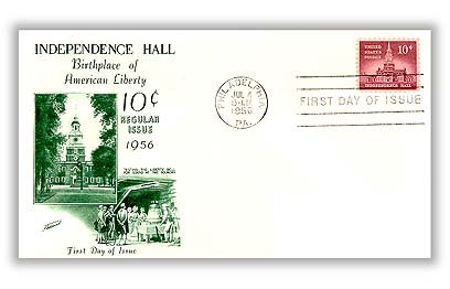1956 Liberty Series - 10¢ Independence Hall