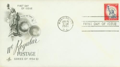 1961 Liberty Series - 11¢ Statue of Liberty