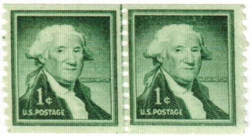 1960 Liberty Series Coil Stamps - 1¢ George Washington