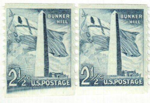 1959 Liberty Series Coil Stamps - 2 1/2¢ Bunker Hill Monument