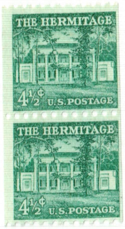 1959 Liberty Series Coil Stamps - 4 1/2¢ The Hermitage