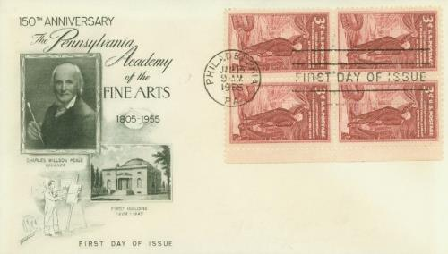 1955 3¢ Pennsylvania Academy