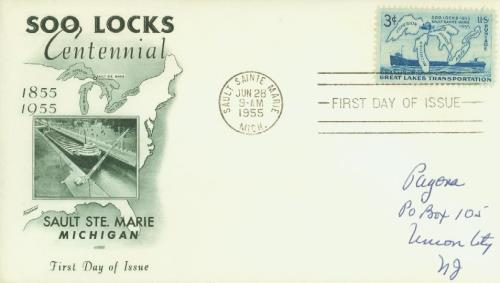 1955 Soo Locks Fleetwood First Day Cover