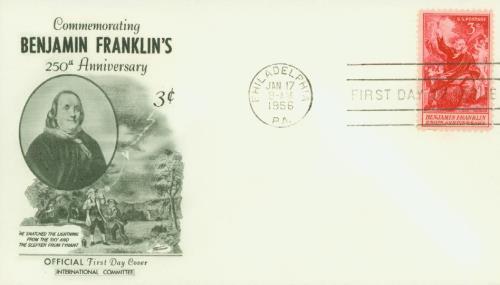 1956 3¢ Benjamin Franklin