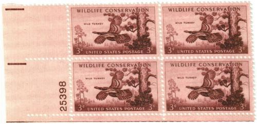 1956 3¢ Wild Turkey
