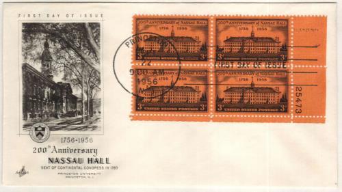 1956 3c Nassau Hall