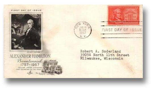 1957 3¢ Alexander Hamilton