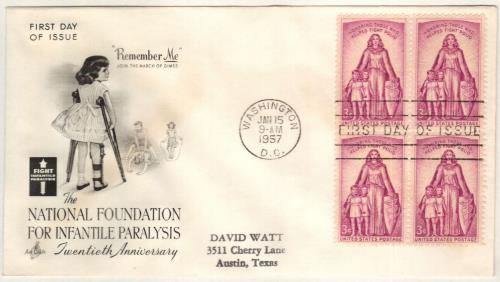 1957 3¢ Polio