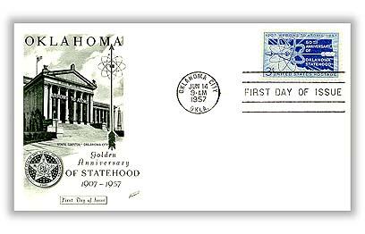 1957 3¢ Oklahoma Statehood