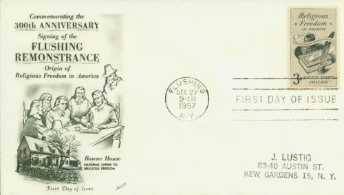 1957 3¢ Religious Freedom