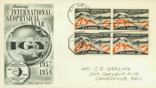 1958 3¢ International Geophysical Year