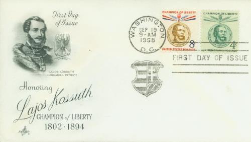 1958 Kossuth 2 stamps