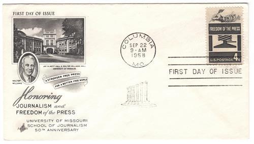 1958 4¢ Freedom of Press