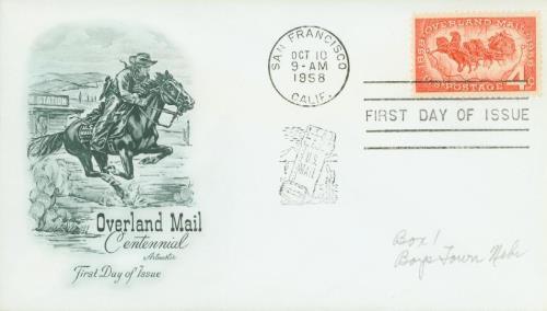 1958 4¢ Overland Mail