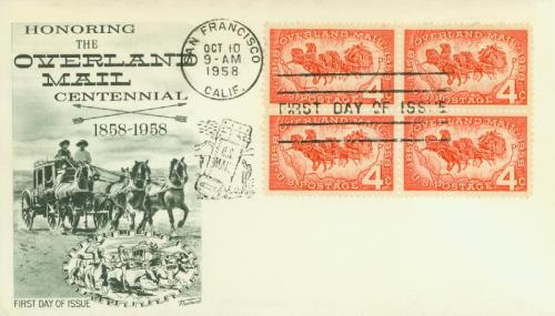 1958 4¢ Overland Mail