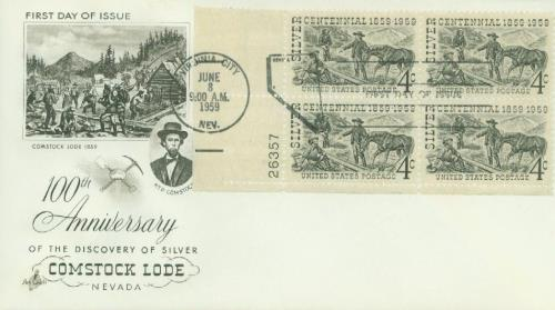 1959 Comstock Lode Classic First Day Cover
