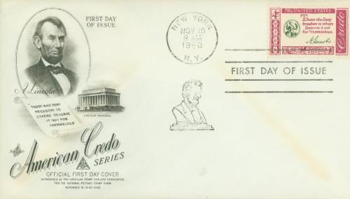 1960 4c American Credo: Abraham Lincoln