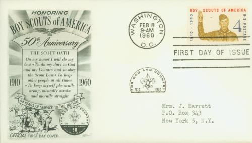 1960 4c Boy Scouts of America