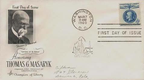 1960 4c Thomas G. Masaryk