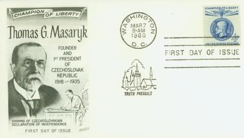 1960 4c Champion of Liberty: Thomas G. Masaryk
