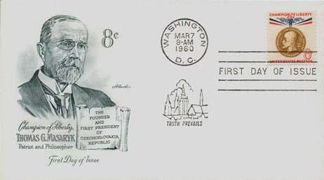 1960 8c Thomas G. Masaryk