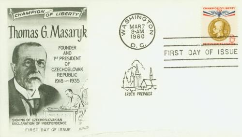 1960 8c Champion of Liberty: Thomas G. Masaryk
