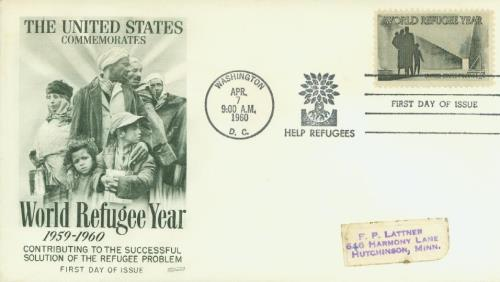 1960 4c World Refugee Year