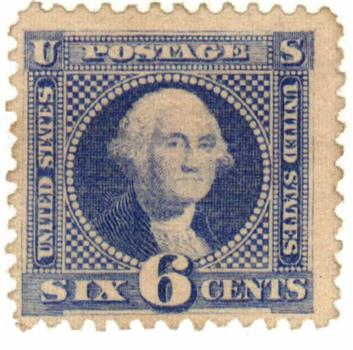 1869 6c Washington, ultramarine