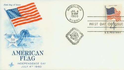 1960 4c 50-Star U.S. Flag