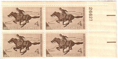 1960 4c Pony Express Centennial