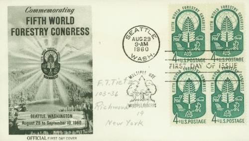 1960 4c World Forestry Congress