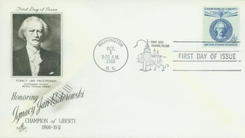 1960 4c Champions of Liberty: Ignacy Paderewski