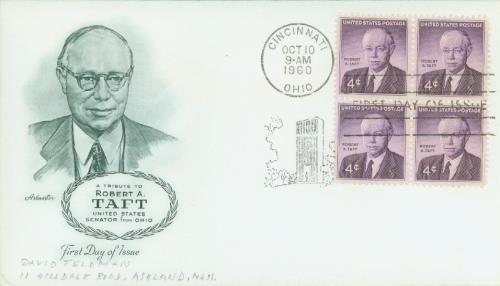 1960 4c Sen. Robert A. Taft