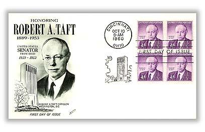 1960 4c Senator Robert A. Taft