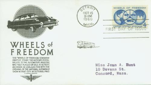 1960 4c Wheels of Freedom