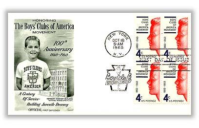 1960 4c Boys' Clubs of America Movement
