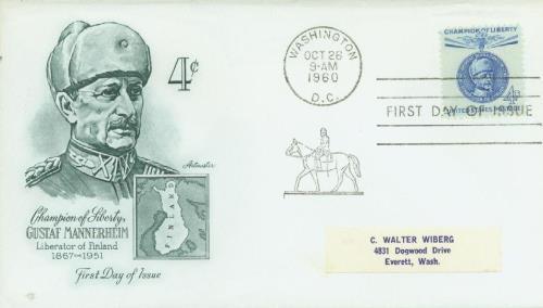 1960 4c Champions of Liberty: Gustaf Mannerheim