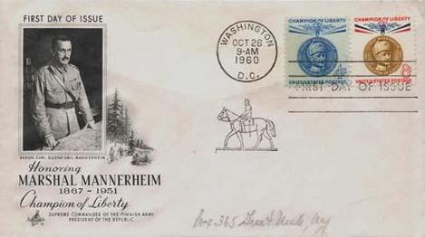 1960 4c,8c Mannerhm FDC