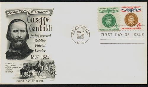 1960 Garibaldi FDC