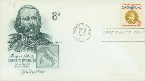 1960 8c Giuseppe Garibaldi