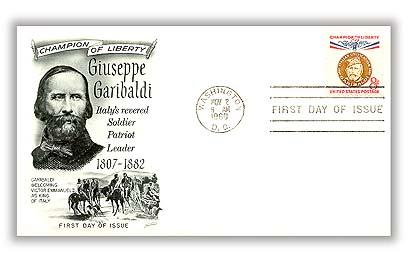 1960 8c Champions of Liberty: Giuseppe Garibaldi