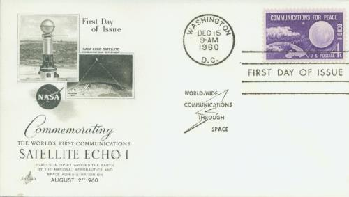 1960 4c Echo I - Communications for Peac