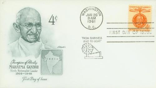 1961 4c Mahatma Gandhi