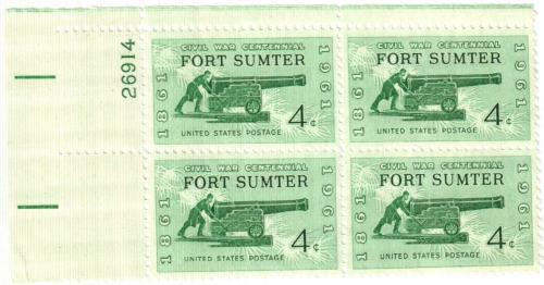 1961 4c Civil War Centennial: Firing on Fort Sumter