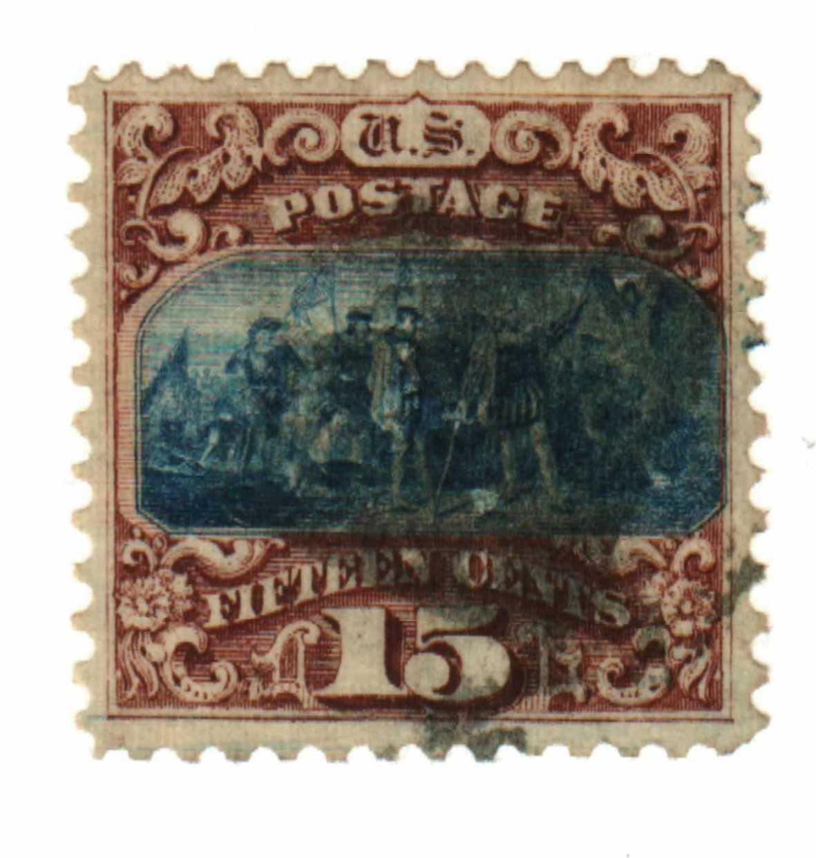 1869 15c Columbus Landing, type I