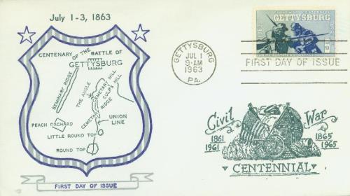 1963 5c Battle of Gettysburg