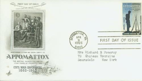 1965 5c Surrender at Appomattox