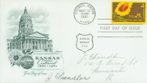 1961 4c Kansas Statehood