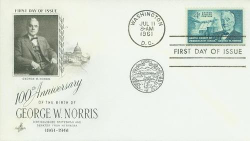 1961 4c Sen. George W. Norris