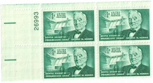 1961 4c Senator George W. Norris
